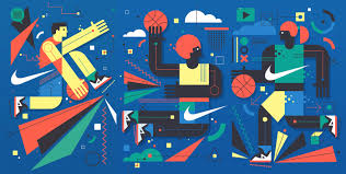 nike wall mural by neil stevens fubiz media recently with his singular style he imagined for the sake of nike a mural destined to embellish a basketball court in barcelona
