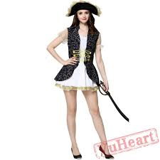 Womens Pirate Halloween Costumes Caribbean Pirate Garment Women Pirate Garment