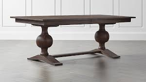 Crate And Barrel Dining Table Winnetka Light Mahogany Rectangular Extendable Dining Table