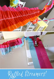 tissue streamers diy tutorial how to make ruffled crepe paper streamers pizzazzerie