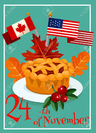 thanksgiving day greeting card design vector elements of canada
