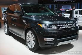 land rover sport 2015 range rover sport front three quarter at the 2015 detroit auto