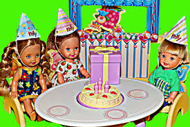 barbie cars from the 90s barbie doll birthday surprise party toy frozen kids dolls krista