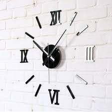 wall clocks modern 3d wall clocks sticker removable wall decal art mural clock