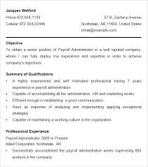 Admin Resume Template Payroll Resume Samples U2013 Topshoppingnetwork Com