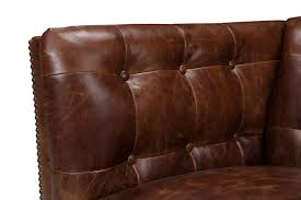 Leather Tufted Sofa by The Brighton English Leather Sofa Rose And Moore