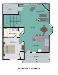 resort floor plan floor plan for 4 bedroom main floor picture of stormy point