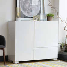 White Gloss Sideboard Cheap Sideboards Contemporary Dining Room Furniture From Dwell