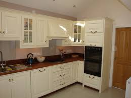 furniture cream wooden floating kitchen cabinet with oven using