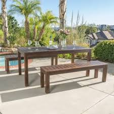 Patio Dining Set With Bench Outdoor Dining Sets For Less Overstock