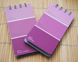 all shade of purple shades of purple paint chip notepads by