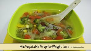 mix vegetable soup for weight loss recipe in hindi by cooking