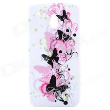 butterfly pattern protective silicone back for htc one mini