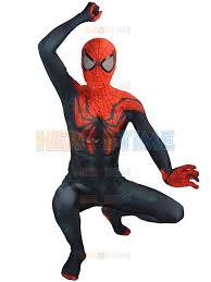 Popular Halloween Costumes Men 2015 Superior Spider Man Costume Lycra Spandex Black Red