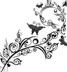 flower clipart black and white clipartion com