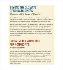 9 social media marketing plan templates u2013 free sample example