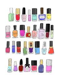 cute illustration of nail polish brands love this for a bathroom
