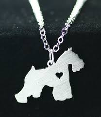 dog memorial 1pcs stainless steel schnauzer necklace pendant dog memorial pet