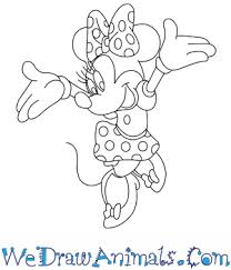 coloring minie mouse drawing minnie mouse drawing pencil