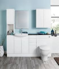 Wickes Bathroom Furniture Wickes Hertford White Gloss Fitted Vanity Unit 600 Mm Wickes Co Uk