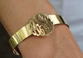 monogrammed cuff bracelet cut out cuff bracelet