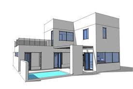 modern style home plans 3 bedrm 2459 sq ft concrete block icf design house plan 116 1015