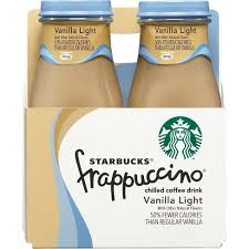 starbucks doubleshot vanilla light starbucks frappuccino vanilla light chilled coffee drink 4pk 9 5