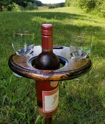 outdoor wine glass holder table folding wine table outdoor wine glass holder awesome pinterest