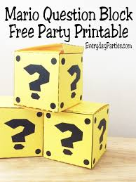 printable question dice mario question box free printable everyday parties