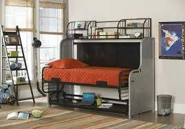 Half Bunk Bed Bunk Bed With Desk Underneath And Stairs Furniture Info