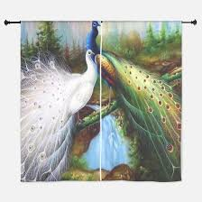 Peacock Curtains Peacock Window Curtains Drapes Peacock Curtains For Any Room