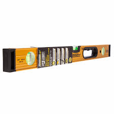 9824 hh 24in aluminum box beam level with hand hole 3 vials