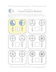 compare fractions worksheet education pinterest worksheets