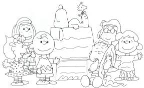 free charlie brown snoopy and peanuts coloring pages snoopy