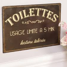 french style vintage bathroom signs