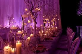 wedding centerpiece ideas in purple decorating party