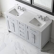 Ove Decors Bathroom Vanities Ove Decors Tahoe 60g Marble Top Bathroom Double Sink Vanity 60