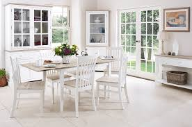 White Wooden Furniture Florence Extending Table And 6 Chairs Set Kitchen Dining Table