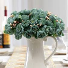 Artificial Flowers For Home Decoration Online Get Cheap Camellia Rose Bouquet Aliexpress Com Alibaba Group