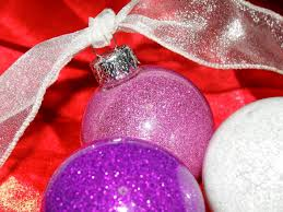 glitter floor wax ornaments