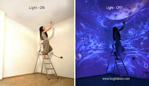 how to use black light paint when the lights go out my glowing murals turn these rooms into