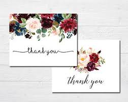 bridal shower thank you cards bridal shower thank you cards etsy
