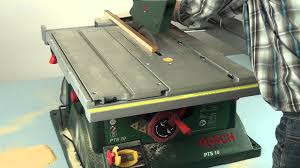 Bosch Saw Bench Bosch Pts 10 Table Saw W444w Eng Youtube