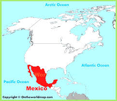 Map Of The North America by Map Of Mexico And North America Evenakliyat Biz