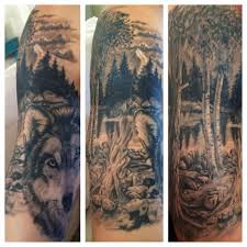 wolf tattoo sleeve yahoo image search results tattoo