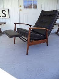 mid century modern milo baughman thayer coggin recliner lounge chair for