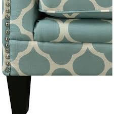 Aqua Accent Chair Picket House Udh707100ca Deena Aqua Patterned Fabric Accent Chair