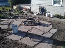 building a flagstone patio mind your dirt