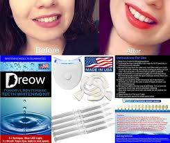 Cost Of Teeth Whitening Amazon Com Non Peroxide Teeth Whitening Kit By Dreow Home