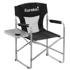 Coleman Reclining Camp Chair Directors Chair With Side Table Eureka